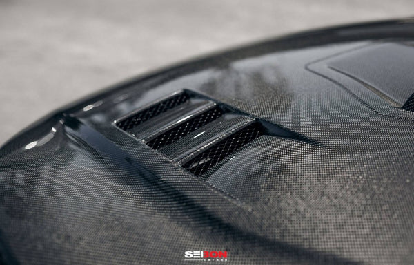 TS-STYLE CARBON FIBER HOOD FOR 2017-2020 HONDA CIVIC TYPE R