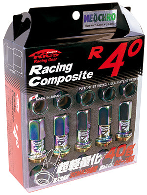 Project Kics R40 Neo Chrome Lug Nuts (16+4 Locks) - 12x1.25
