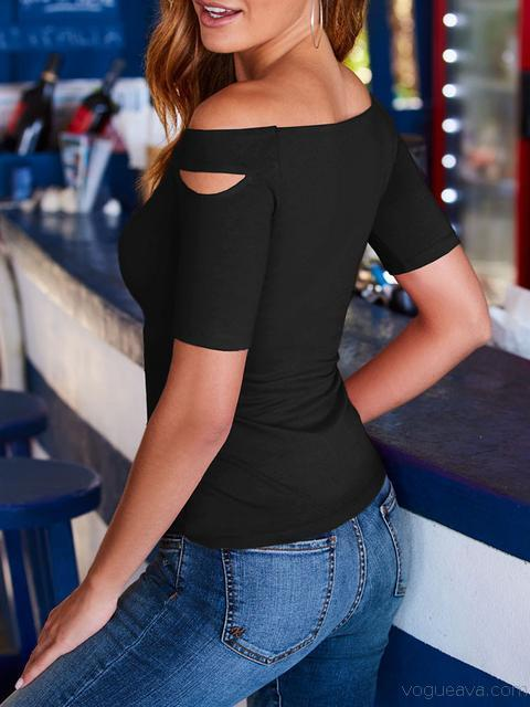 Casual Slim Short Sleeve Tops