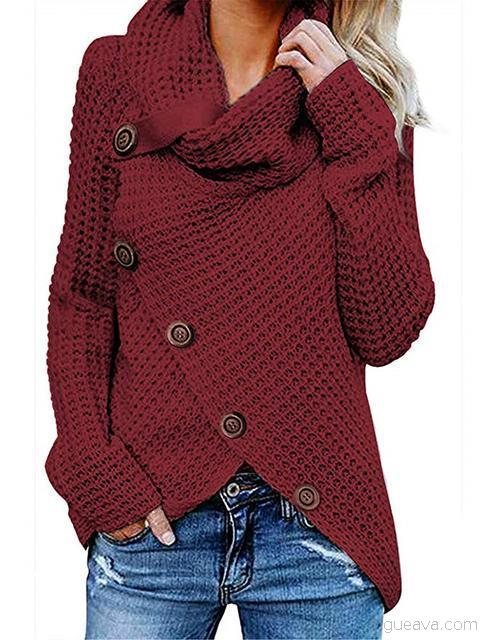 Button Thick Long Sleeve Sweater