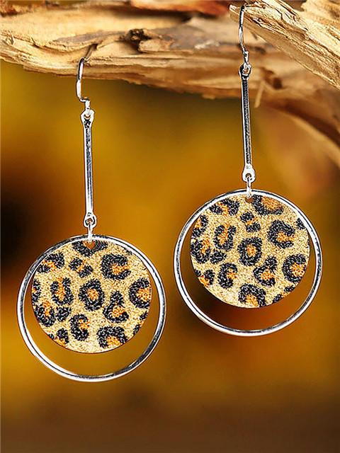 Leopard Print Hollow Out Earrings