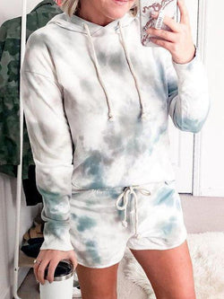 Tie-dye Long Sleeve Shorts Outfit