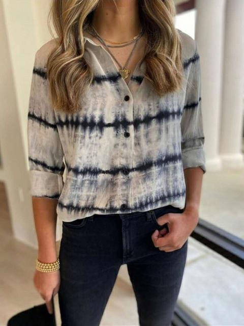 Tie-dye Print Loose Casual Shirt