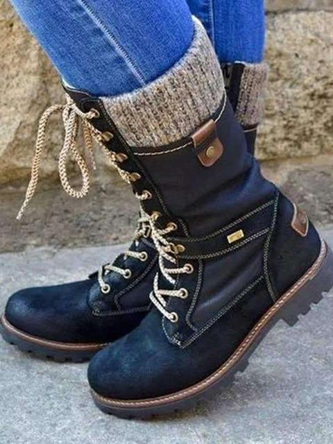 Vintage Lace-up Martin Boots