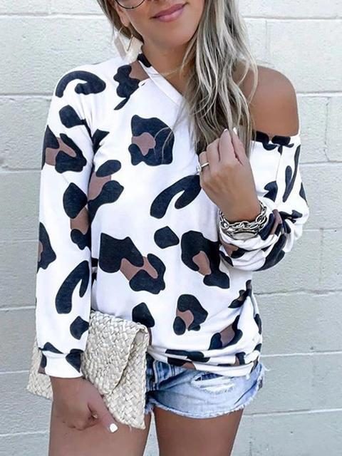 Fashion Leopard Print Long Sleeve Top