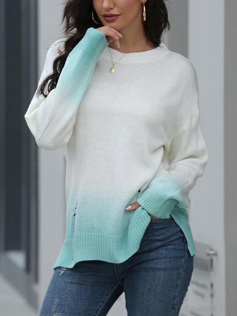 Gradient Colour Long Sleeve Sweater