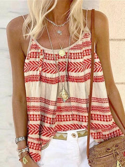 Bohemian Beach Holiday Camisole Tops