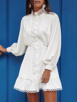 Bohemian Cotton Embroidery Lace Dress
