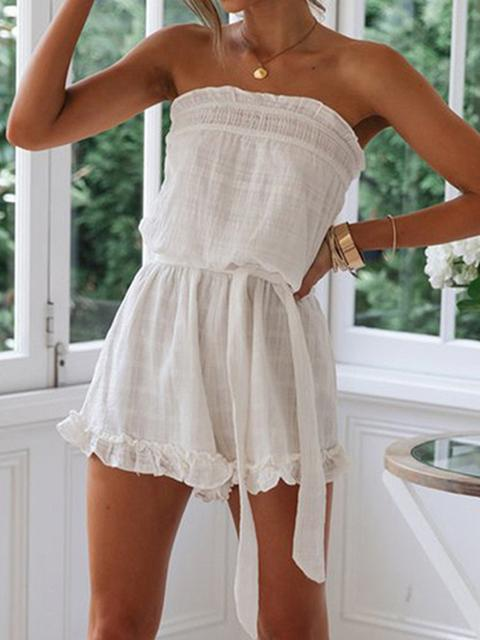 Casual Lace Sleeveless Slim Romper