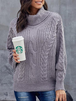 Chunky Round Neck Turtleneck Sweater