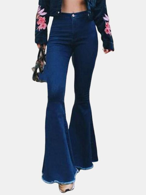 Denim High Waist Flared Jeans