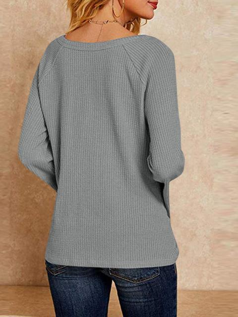 Flared Long Sleeves Casual Sweater