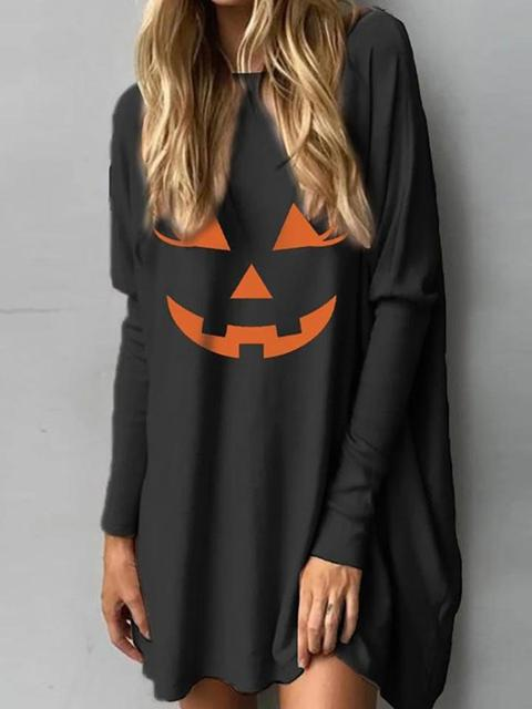 Halloween Hoodies Print Color Sweatshirt
