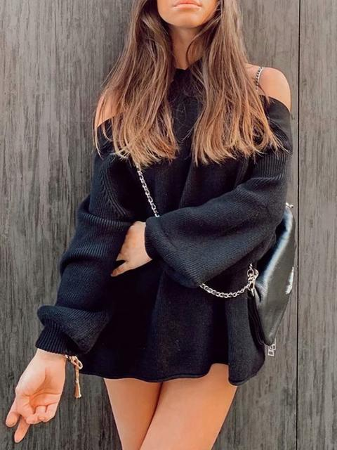 Halter Strapless Loose Sweater