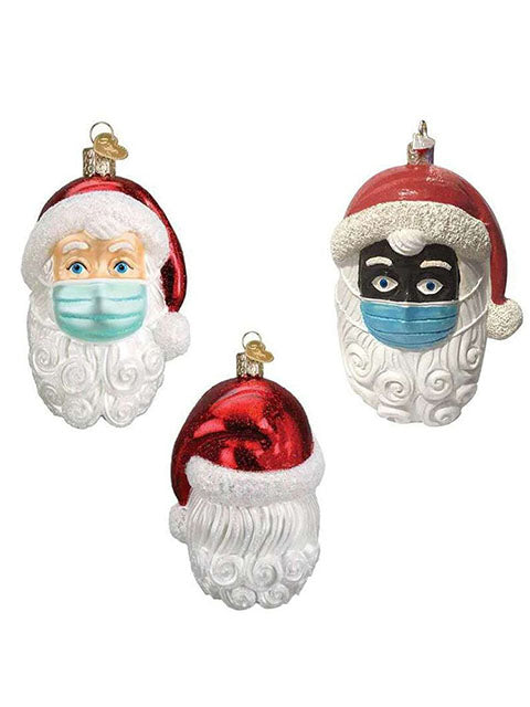 Christmas Ornament Santa Wearing A Face Mask