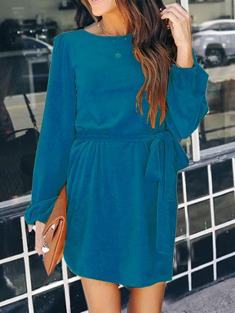 Round Neck Midi Dress Sweaters