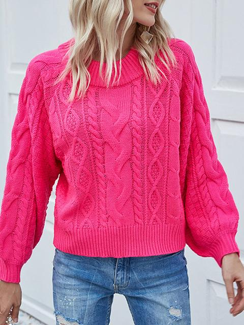 Round Neck Short Pullover Sweater