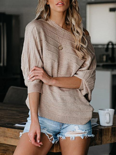 Round Neck Solid Sweater