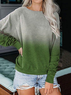 Simple Tie Dye Thin Pullover Sweatshirts