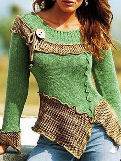Vintage Slim Solid Sweater