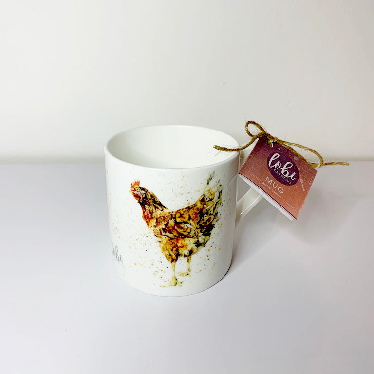 Chicken Bone China Mug