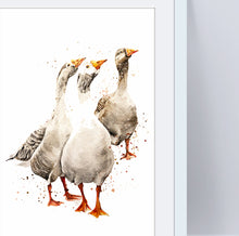 Load image into Gallery viewer, Geese A4 Print
