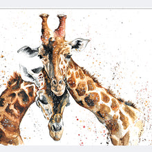 Load image into Gallery viewer, Giraffe Pair A4 Print