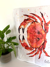 Load image into Gallery viewer, Crab Tea Towel