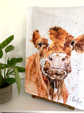 Load image into Gallery viewer, Cow Tea Towel