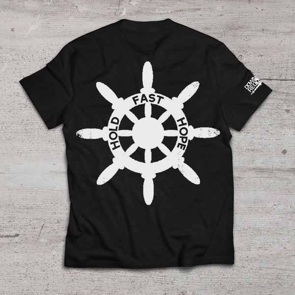 """Ship Wheel"" Black T-Shirt"