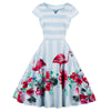 Robe Rockabilly Flamant Rose de Face