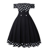 Robe Bustier Rockabilly Noire de Face