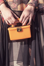 Load image into Gallery viewer, Vintage Orange 1940's Lucite Box Purse