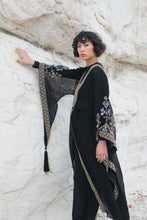 Load image into Gallery viewer, Vintage Ethnic Black Hand Embroidered Robe