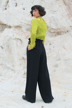 Load image into Gallery viewer, Issey Miyake Féte Pleated Lime Top