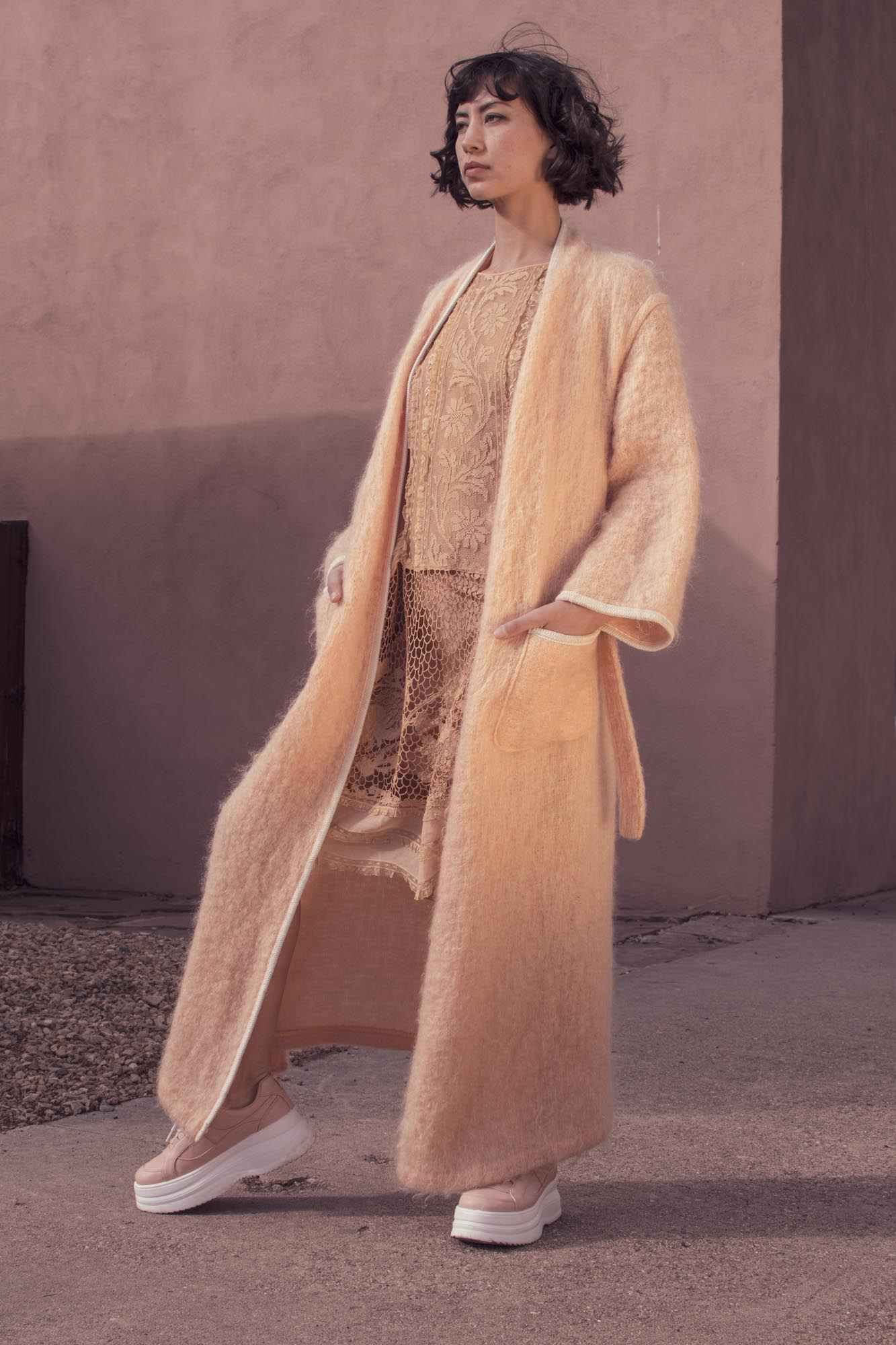 Vintage 1970's French Mohair Robe