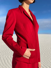 Load image into Gallery viewer, Thierry Mugler Red Skirt Suit