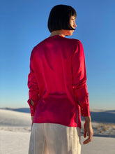 Load image into Gallery viewer, Chanel Fuschia  Silk Blouse