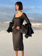 Load image into Gallery viewer, Yves Saint Laurent Fall 2002/2003 Tom Ford era Black Silk Organza Dress