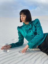 Load image into Gallery viewer, Yves Saint Laurent Fall 2004 Tom Ford era Silk Emerald Pagoda Jacket