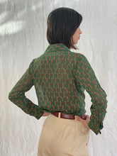 Load image into Gallery viewer, Gucci 1970's Golf Print Blouse