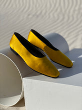Load image into Gallery viewer, Yves Saint Laurent Marigold Satin Ballet Flats