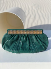 Load image into Gallery viewer, Judith Leiber Emerald Lizard Hide Purse