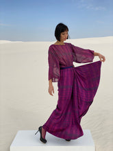 Load image into Gallery viewer, Giorgio Beverly Hills 1970's Silk Lurex Dress