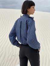Load image into Gallery viewer, Yves Saint Laurent  Tile Print Silk Blouse