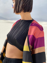 Load image into Gallery viewer, Issey Miyake Pleats Please  Black Crop Top  and Slacks Set
