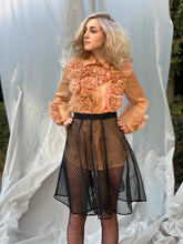 Load image into Gallery viewer, Krizia Black Screen Mesh Skirt