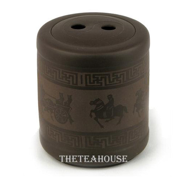 Etched Clay Tea Caddy - 12 oz
