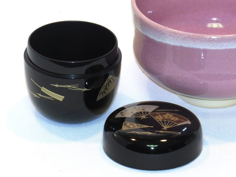 Japanese Powdered Tea Caddy - Black