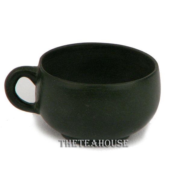Green Clay Handled Cup